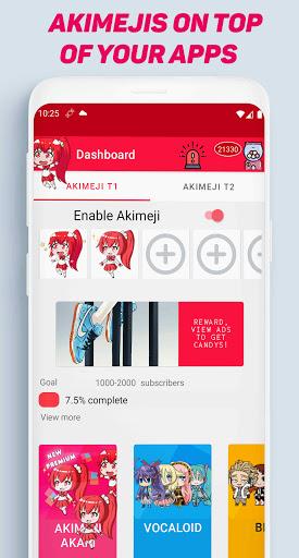Akimeji: Shimeji, Chibis, Live Wallpaper over apps apktram screenshots 1