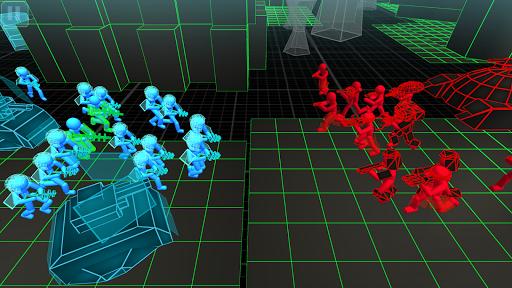 stickman simulator: neon tank warriors screenshot 2
