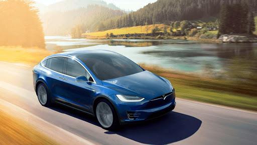 Electric Car Simulator 2021: City Driving Model X Apkfinish screenshots 14