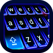 Blue Keyboard Theme