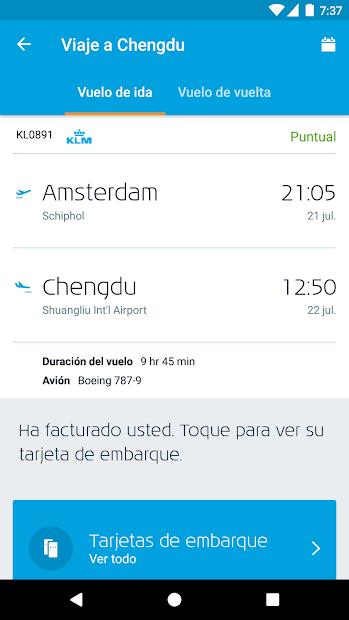 Captura de Pantalla 3 de KLM - Royal Dutch Airlines para android