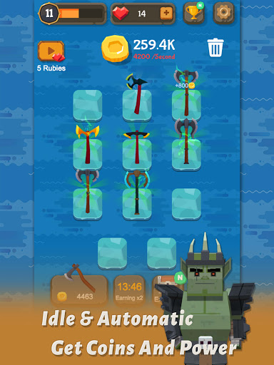 Merge Axe - Idle Blacksmith Master modavailable screenshots 8