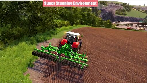 Village Tractor Drive 2021-Farm Offroad Sim Games  screenshots 1