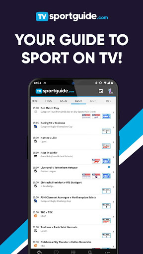 TV Sport Guide.com - Live sport on TV 7.1.0 Screenshots 1