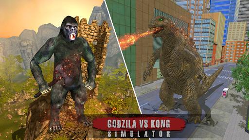 Godzilla & Kong 2021: Angry Monster Fighting Games 3 screenshots 4