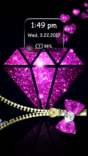 Diamond Zipper Lock Screen 6.1 Screenshots 5