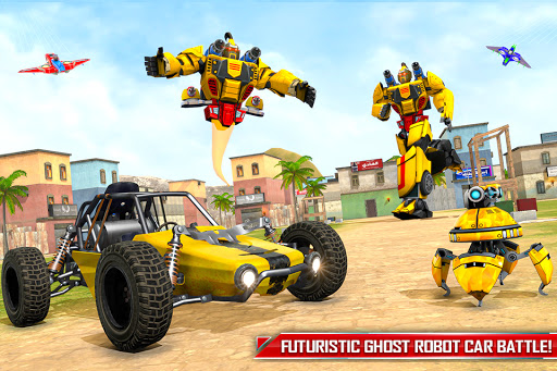 Flying Ghost Robot Car Game apkpoly screenshots 1