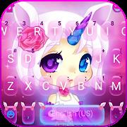 Pinky Unicorn Girl Keyboard Theme