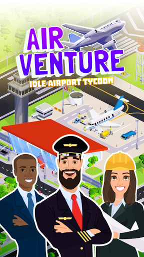 Air Venture - Idle Airport Tycoon ✈️ apkmartins screenshots 1