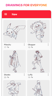 WeDraw - How to Draw Anime & Cartoon 1.0 Screenshots 3