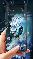 Divine Cool White Dragon-APUS Launcher theme