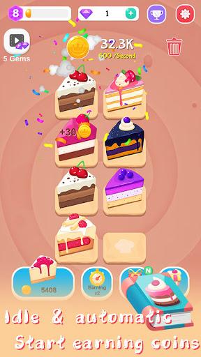 Merge Cake Mania - idle baking tycoon  screenshots 2