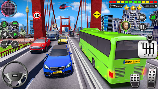 Bus Driving Simulator Games : Coach Parking School 1.7 screenshots 12