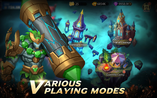 Infinite Heroesuff1aldle RPG game Apkfinish screenshots 10