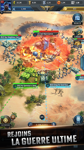 Code Triche Instant War - Jeu de stratégie militaire (Astuce) APK MOD screenshots 4