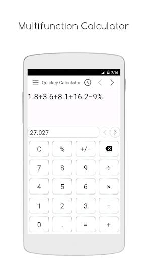 Quickey Calculator - Free app modavailable screenshots 1