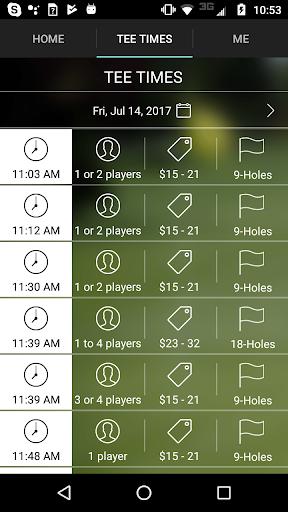 evergreen golf tee times screenshot 3
