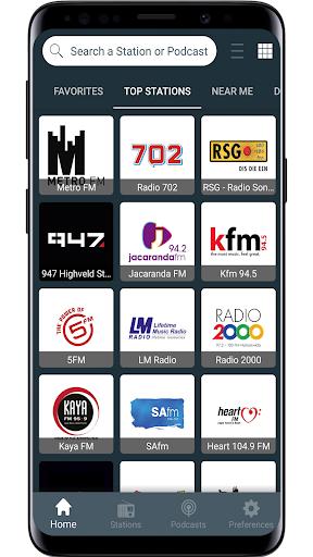 radio south africa - fm radio, online radio screenshot 1
