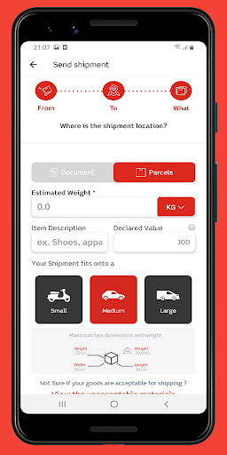 Aramex Mobile 4.1.4 release Screenshots 6