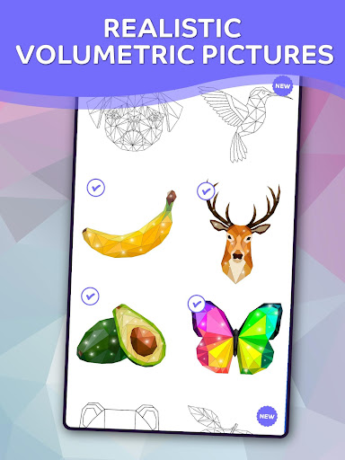 Polyart Coloring by Numbers  screenshots 1