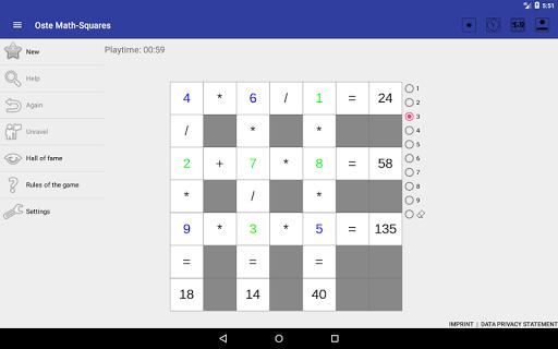 Oste Math-Squares hack tool