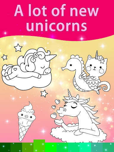Unicorn Coloring Pages with Animation Effects 3.3 screenshots 4
