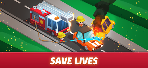 Idle Firefighter Tycoon - Fire Emergency Manager screenshots 4