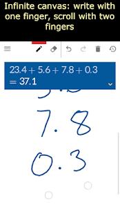 Paper calculator (math handwriting script)