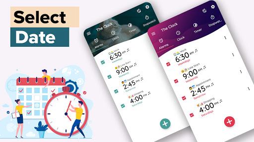 Alarm Clock - Timer, Stopwatch & World Clock Free  screenshots 2
