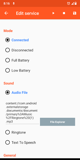 Image of Battery Sound Notification 2.5 2