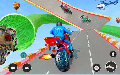 Police Bike Stunt GT Race Game Apkfinish screenshots 13