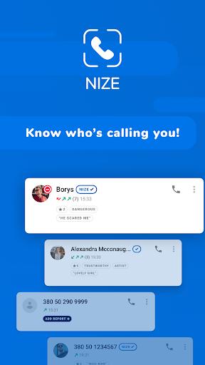 Nize - Caller ID, Call Blocker  screenshots 1