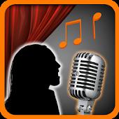 icono entrenamiento de la voz cantar