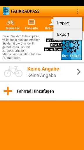 Fahrradpass  screenshots 2