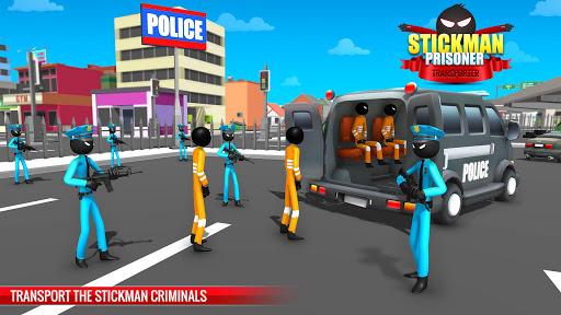 US Police Stickman Criminal Plane Transporter Game 4.7 screenshots 1