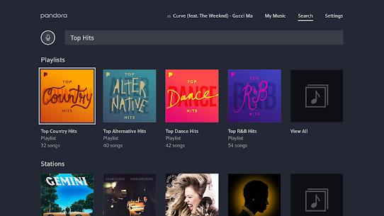 Pandora Music for TV 3