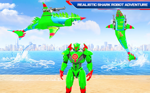 Robot Shark Attack: Transform Robot Shark Games apkpoly screenshots 8