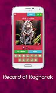Record of Ragnarok: Shuumatsu no Valkyrie Quiz 8.3.4z screenshots 1