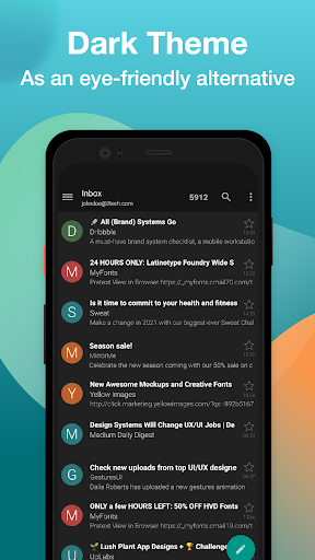 Email Aqua Mail - Exchange, SMIME, Smart inbox  Screenshots 4