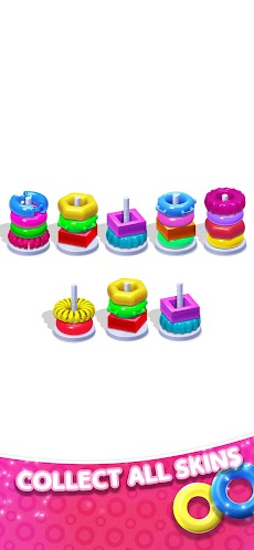 Color Hoop Stack Puzzle-Sorting Gamesのおすすめ画像3