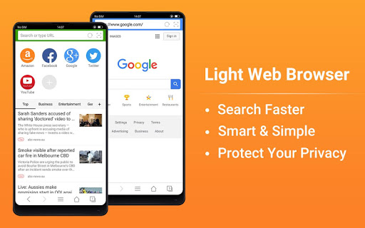 Web Browser - Fast, Private & News 1.6.3 screenshots 1
