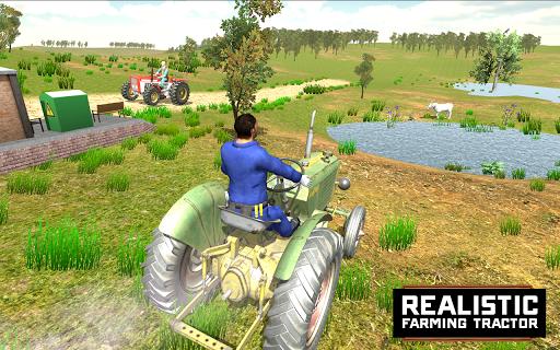 Télécharger Village Tractor Driving Simulator Farming Games 3d APK MOD (Astuce) screenshots 2