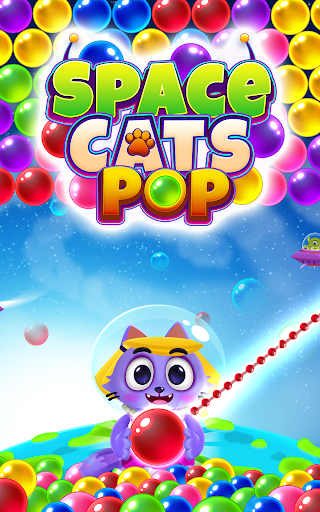 Space Cats Pop - Kitty Bubble Pop Games apkmr screenshots 18