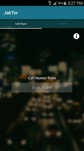 JakTor (Cek Nomor Polisi) 1.1 Screenshots 2