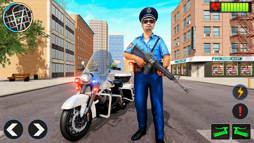 Télécharger Police Moto Bike Chase Crime Shooting Games APK MOD (Astuce) screenshots 1