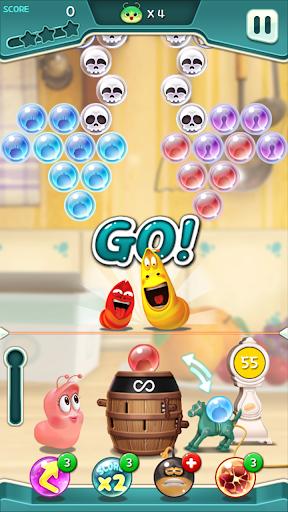 Larva Bubble Pop apkpoly screenshots 7