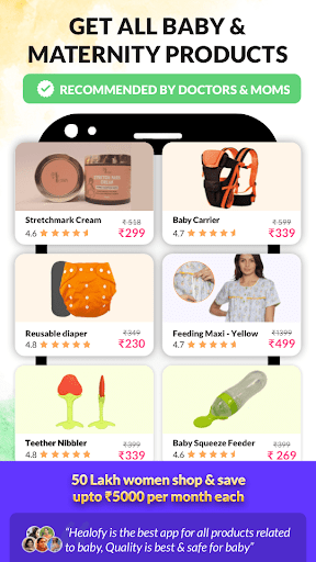 Healofy:Indian Pregnancy Parenting & Baby products 3.0.8.62 Screenshots 1