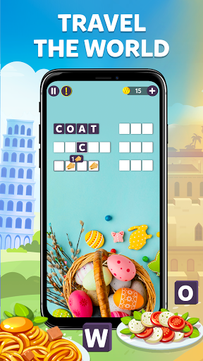 Wordelicious - Play Word Search Food Puzzle Game apkpoly screenshots 1