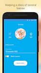 screenshot of Baby Tracker. Breastfeeding Tracker. Newborn