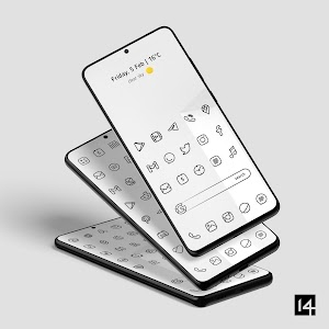 Caelus Black Icon Pack - Black Linear Icons 4.0.5 (Patched)